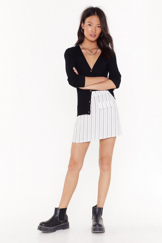 Stripe Pocket Detail Skirt