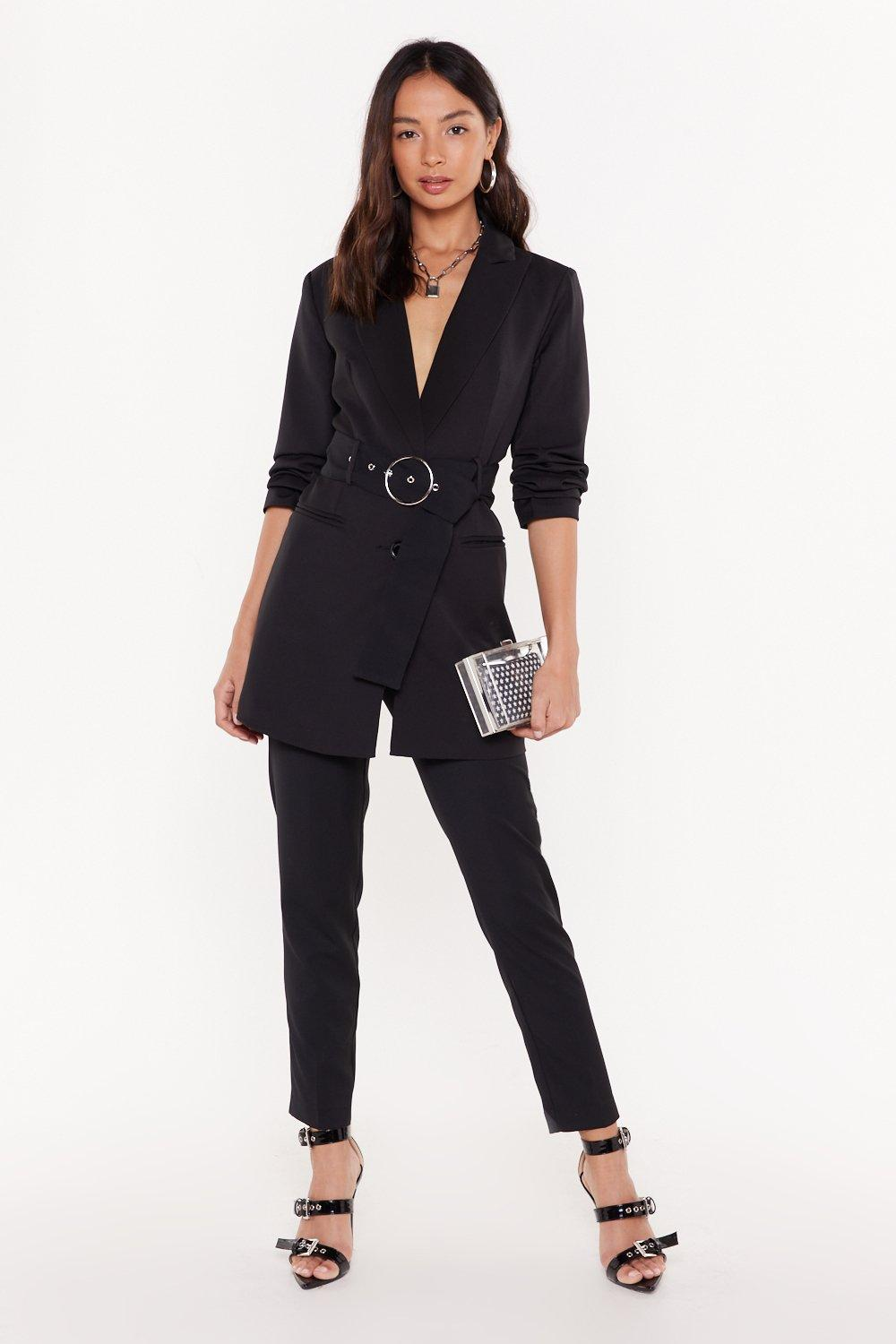 Tailor On Through High Waisted Trousers by Nasty Gal