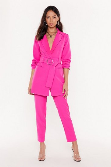 Womens Pink Tailor on Through High-Waisted Pants