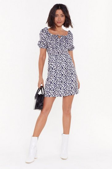 Womens Navy Leave Her Wild Daisy Mini Dress