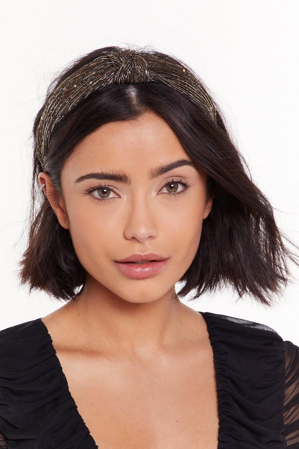 You're A Shimmer Baby Knot Headband by Nasty Gal