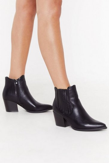 Womens Black Journey to the Western Chelsea Boots