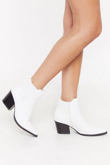 Womens White Journey to the Western Chelsea Boots