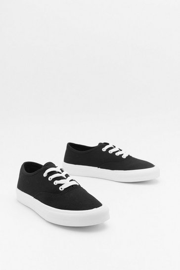 Womens Black Shake That Canvas Trainers