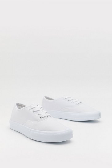 Womens White Shake That Canvas Trainers