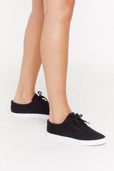 Womens Black Canvas for Change Trainers