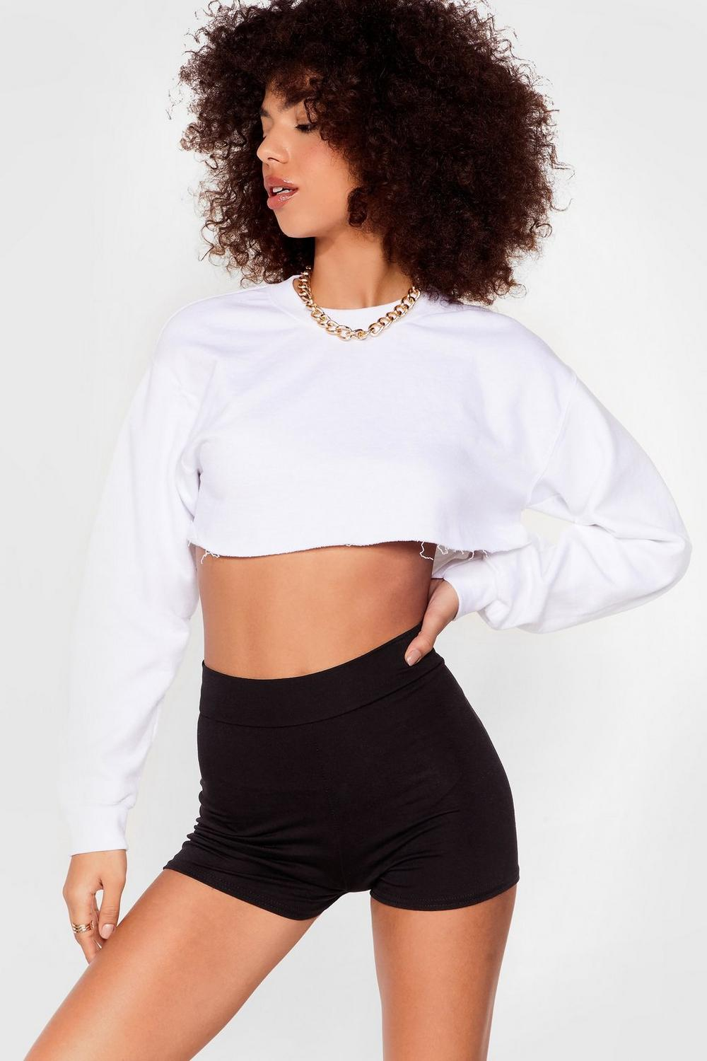 That Was Close High Waisted Fitted Shorts by Nasty Gal