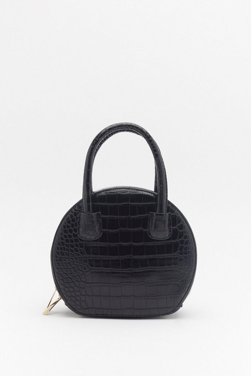 Want Spin Me Round Patent Croc Bag by Nasty Gal