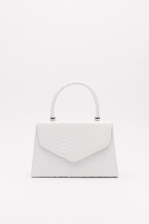 Pu Croc Envelope Grab Bag by Nasty Gal