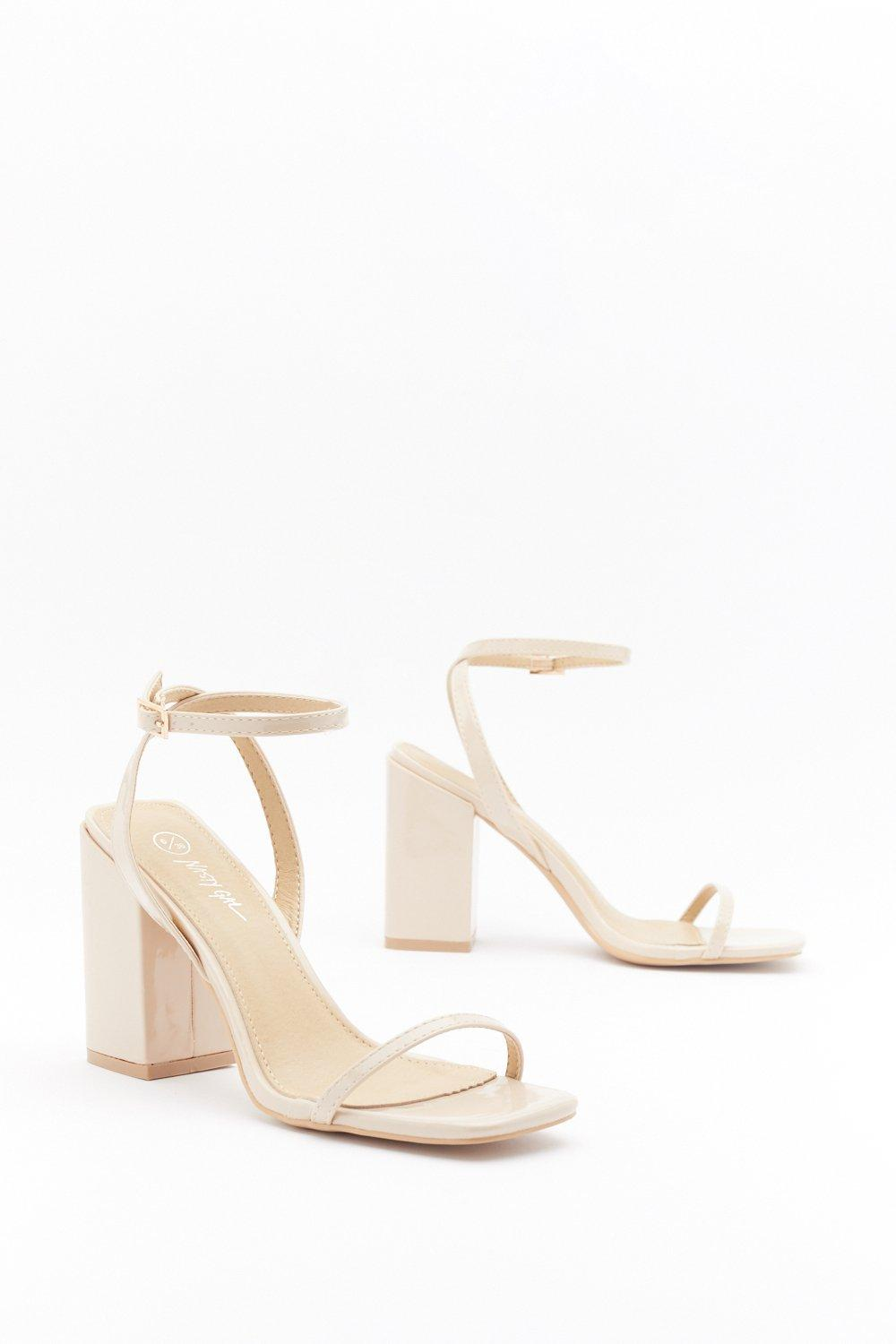 I Won't Square Strappy Block Heel Sandals | Nasty Gal