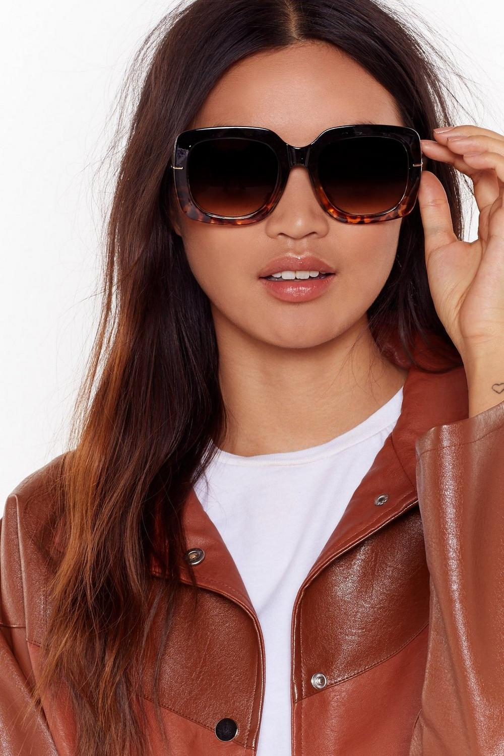 Tort I'd Seen Everything Oversized Square Sunglasses by Nasty Gal