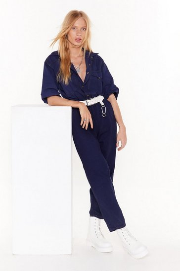 Womens Blue Nasty Gal Vintage All in Denim Boilersuit