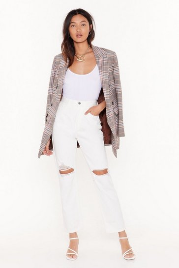 White Zoe Cropped Distressed Jeans