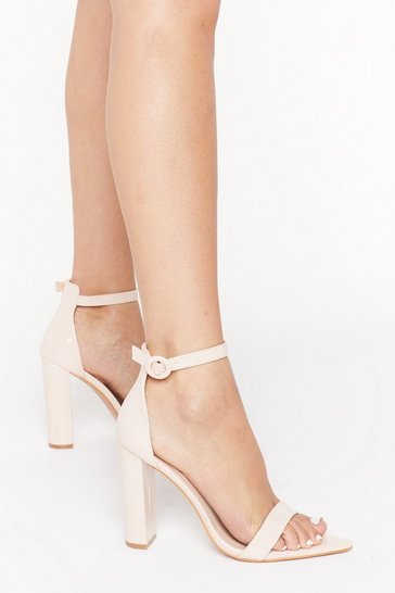 Womens Nude Point Me to Faux Leather Pointed Heels