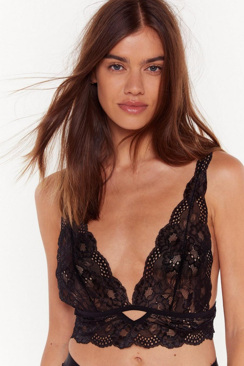 My Lace Or Yours Scalloped Bralette by Nasty Gal