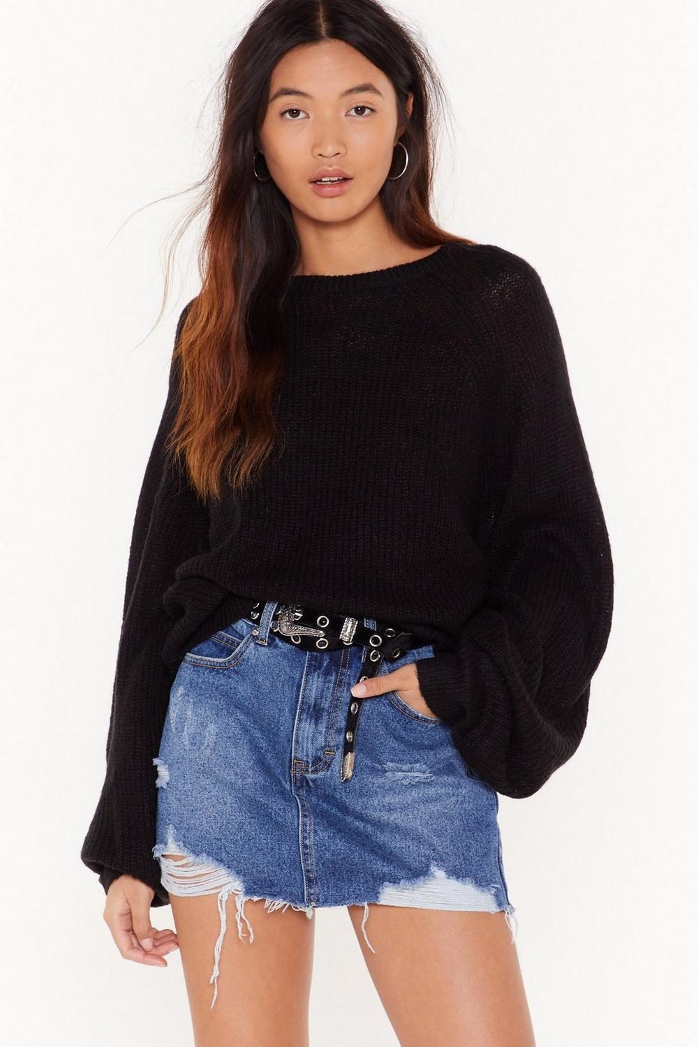 Omg Look At Her Button Down Denim Skirt by Nasty Gal