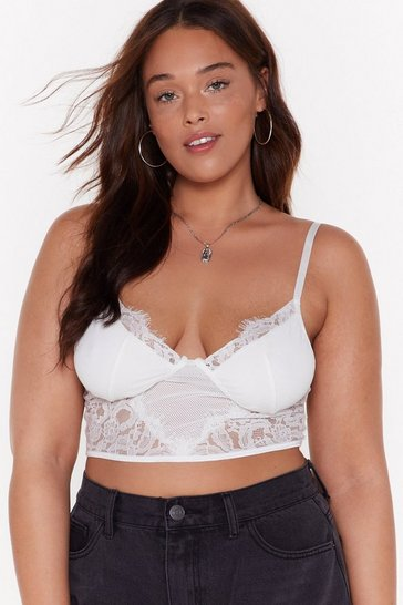 Womens White My Secret Lace Bra Top
