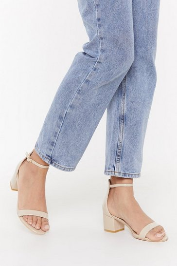 Womens Nude On the Low Down Heeled Sandal