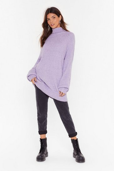 Lilac Roll On the Weekend Turtleneck Sweater