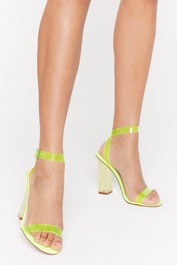 Yellow Let's Be Clear Heels
