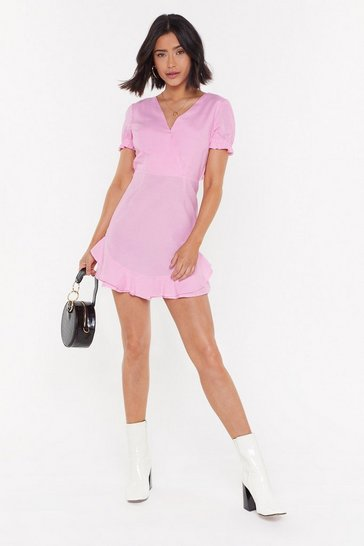 Womens Baby pink Back to Back Ruffle Romper