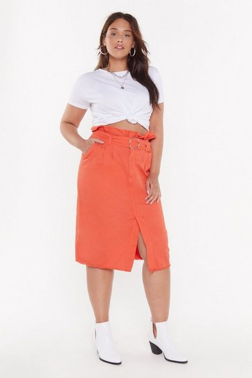 Womens Apricot Buckle Up Buttercup Plus Midi Skirt