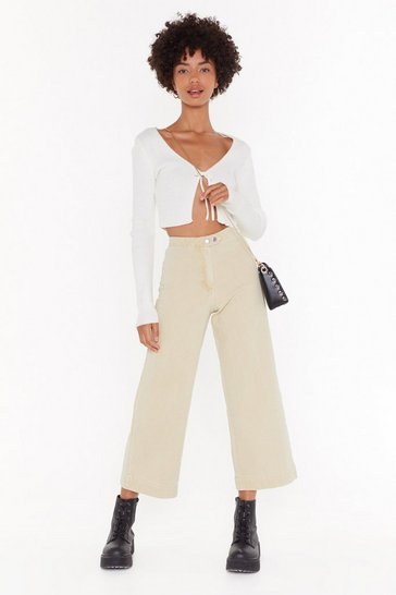 Travel Far And Wide Culotte Jeans, Sand