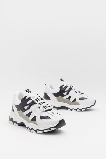 Womens White Monochrome Mid 90's Trainers
