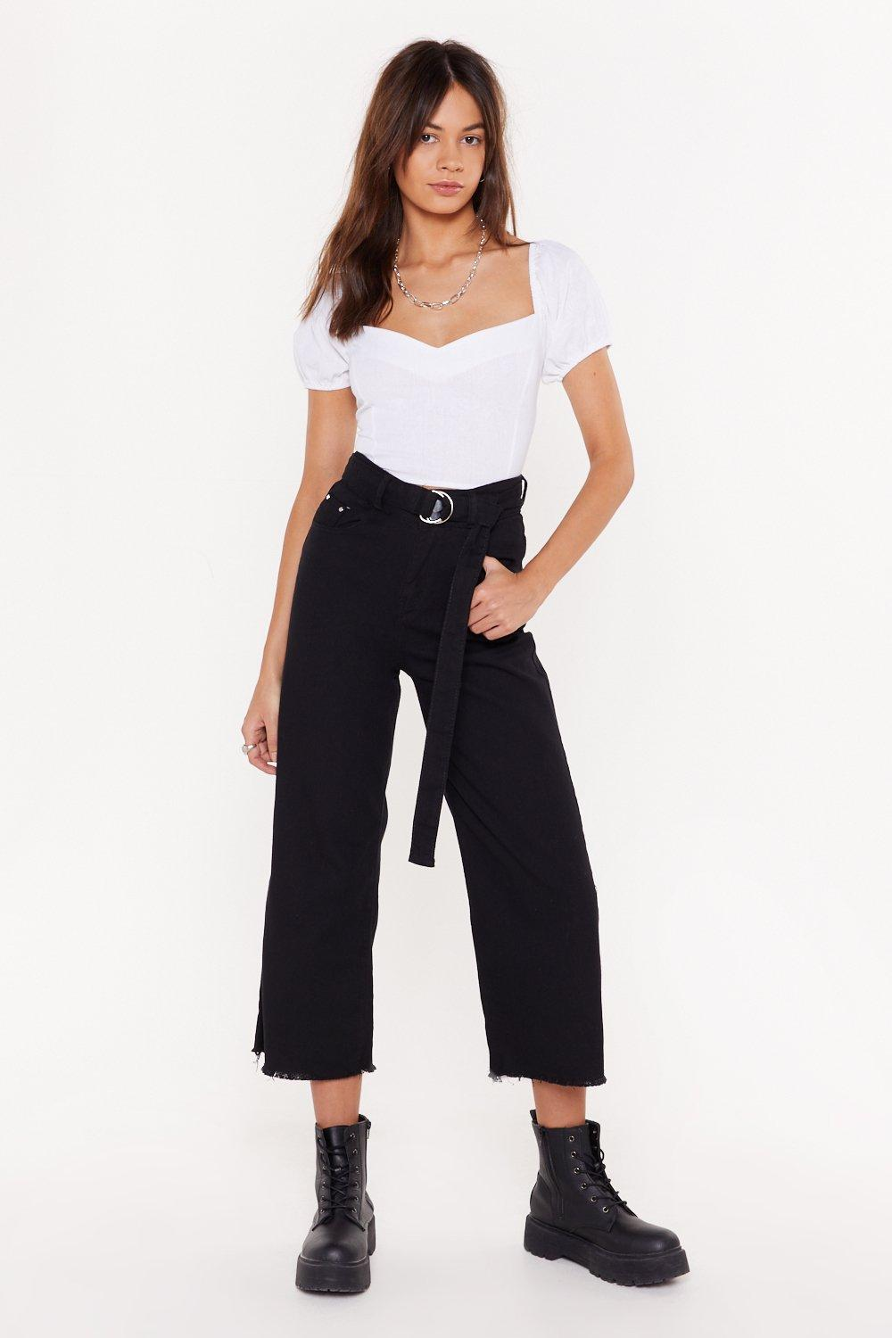 Pass Me The Riding Crop Wide Leg Jeans by Nasty Gal