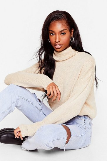 Oatmeal Show 'Em How Knits Done Turtleneck Sweater