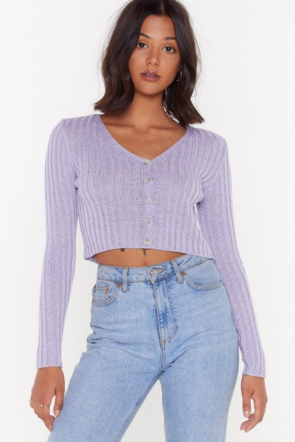 No Chills Cropped Button Down Cardigan by Nasty Gal
