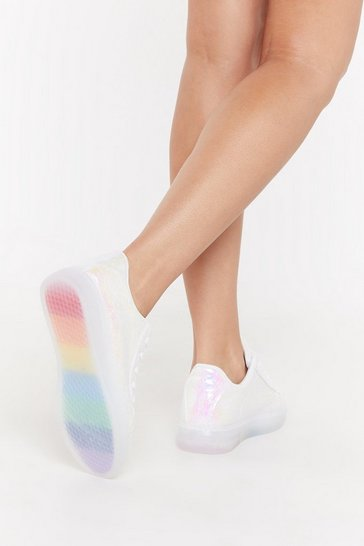 Womens Silver Irri Rainbow Sole Trainers