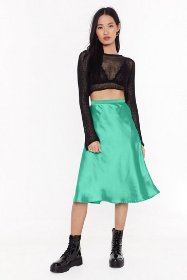 Womens Jade Just My Type Satin Midi Skirt