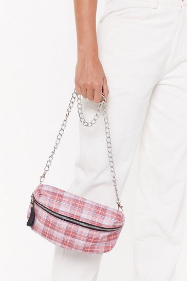 Womens Red WANT Check Me Out Short Crossbody Bag