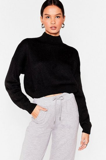 Black In Our Comfort Zone Relaxed Knit Sweater