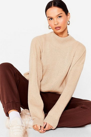 Oatmeal In Our Comfort Zone Relaxed Knit Sweater