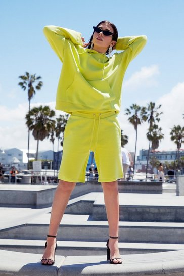 Sweat à capuche oversize Keep it chill, Lime