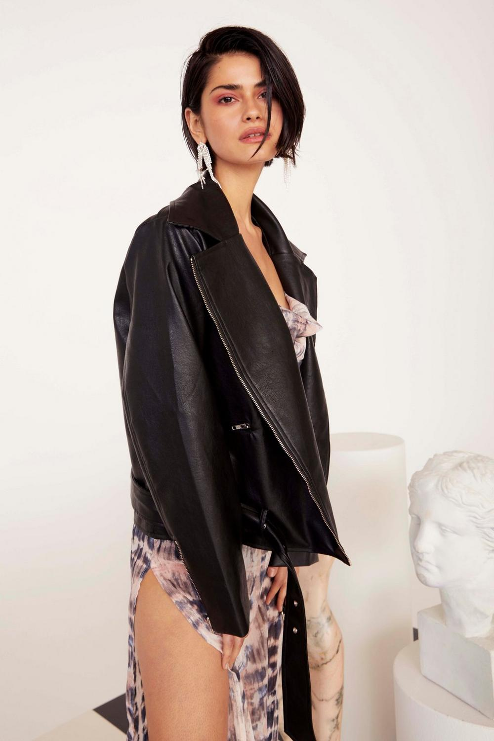 Perfecto Oversize En Similicuir Sur La Route De Madison by Nasty Gal