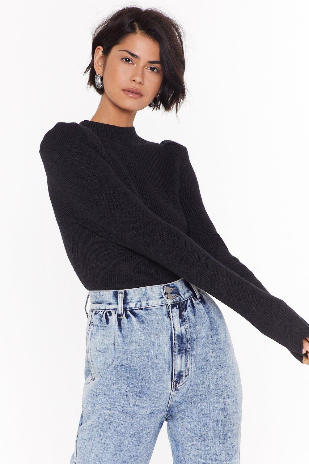 Are You Ready For Knit Puff Sleeve Sweater by Nasty Gal