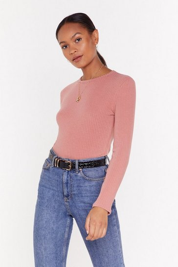 Rose Who Crew Ribbed Bodysuit