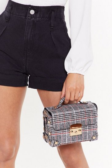 Womens Black WANT Check Your Attitude Crossbody Bag