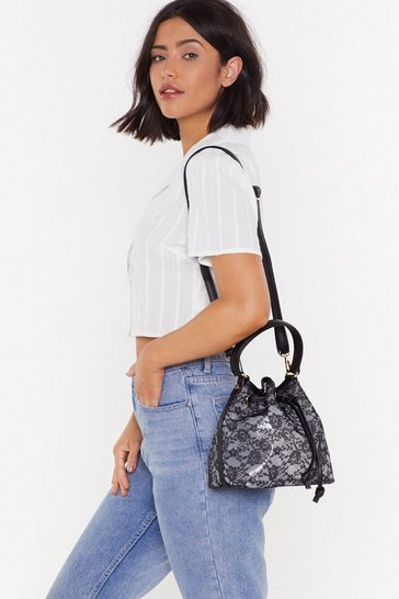 Black WANT The Lace Is On Shoulder Bag