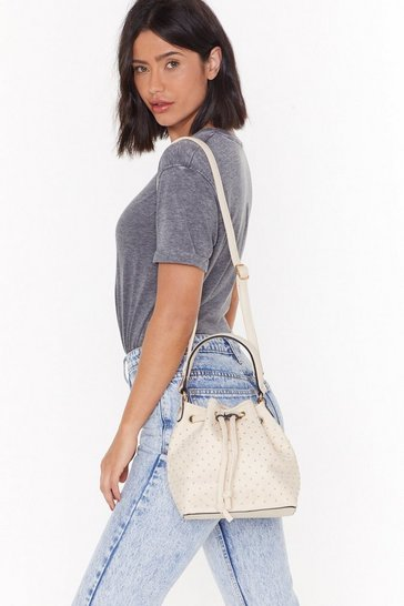 Womens Nude WANT You Stud Out Crossbody Bag