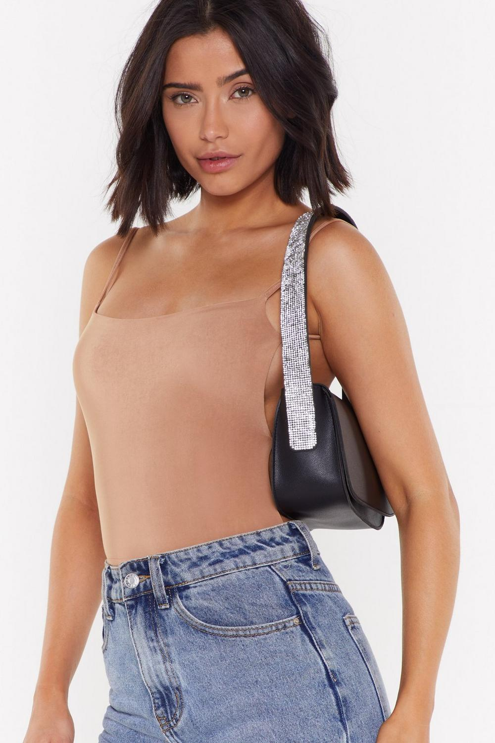 Want Get Your Shine On Diamante Shoulder Bag by Nasty Gal