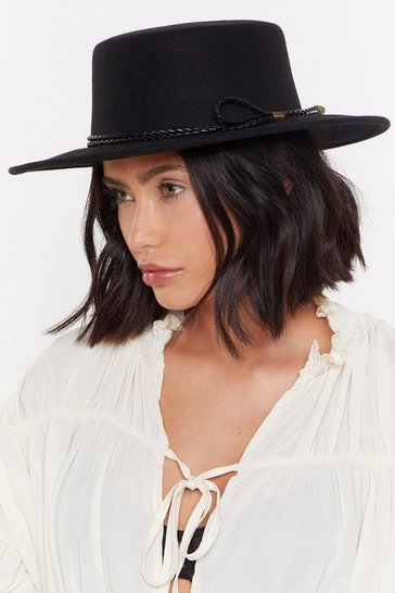Womens Black Hat's the Way It is Wide Brim Hat
