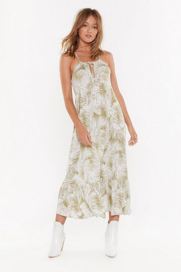 Womens Sage Keep Palm Racerback Maxi Dress