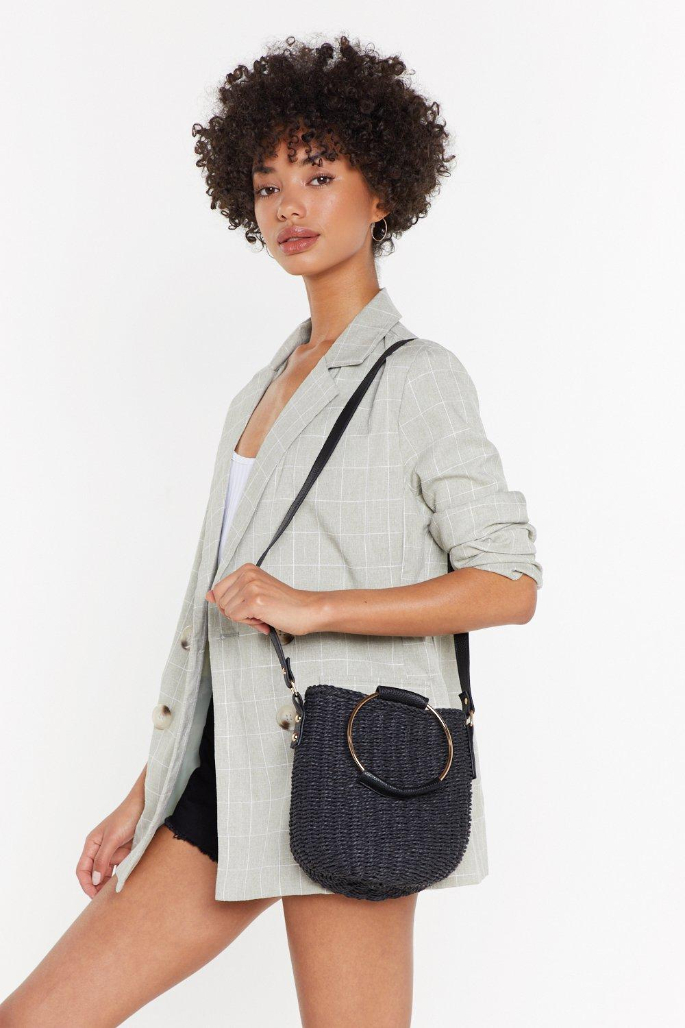 Woven Straw Round Handle Crossbodies by Nasty Gal