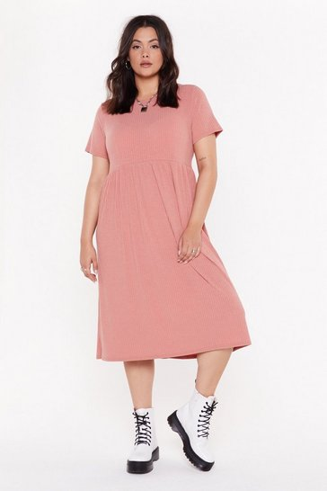 Womens Rose Square Is the Love Plus Smock Dress