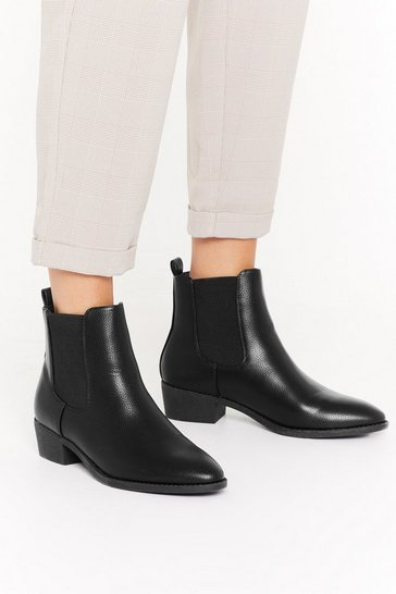 Black Boot Scootin' Boogie Faux Leather Chelsea Boots