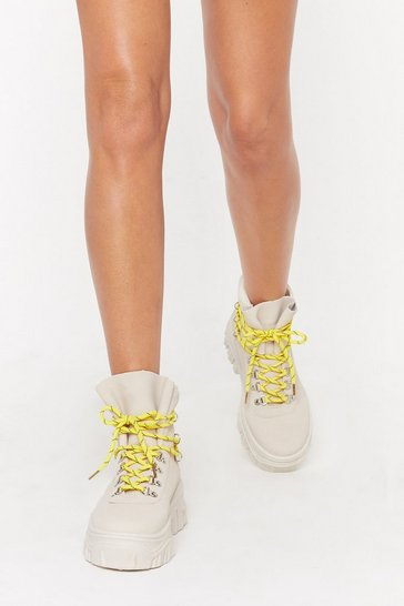 Womens Stone Don't Lace 'Em High Top Lace-Up Sneakers